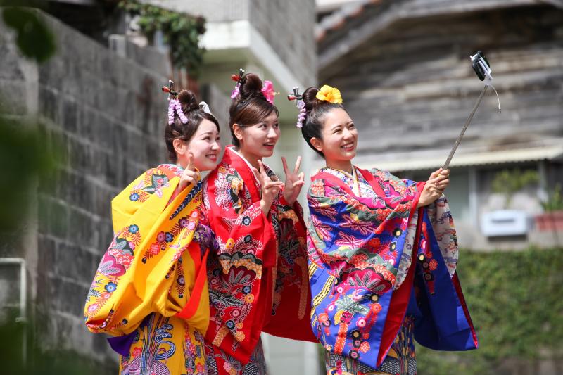 오키나와 전통 복장 , 일본 전통 복장 (기모노,유카타) 체험