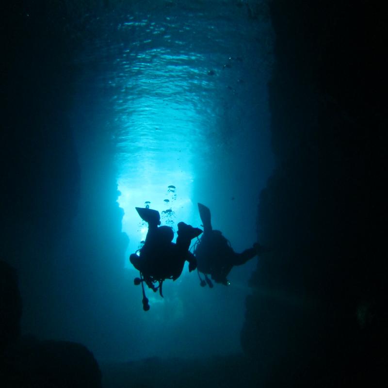 마에다 미사키 푸른동굴에서 즐기는 스노클링