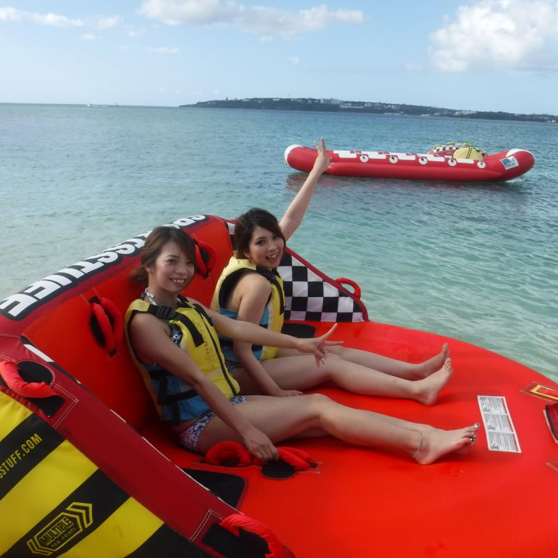 오키나와 북부 민나섬 가즈아!! 민나섬에서 즐기는 마린 3종 옵션투어!! (U보트,바나나보트,빅 마블) (점심포함)
