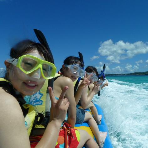[4월~10월] 투명한 바다를 바나나보트로 이동하여 즐기는 스노클링 투어
