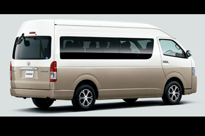 [裝倒車影像≫安全停車][豐田海獅Hiace GR cabin 最多14人座巴士][包括免責保險/NOC選擇][隨意出發/還車從4個店]