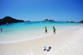[나하출발/페리로 이동/점심포함] ! 토카시키섬 아하렌비치&토카시쿠 바다거북이 스노클링