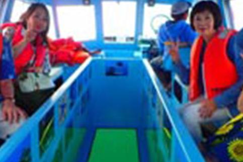 【Fプラン】水納島日帰り海水浴&グラスボート