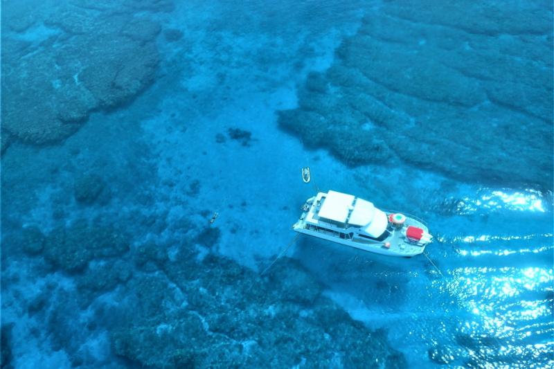 【慶良間諸島】C行程珊瑚礁浮潛行程(贈送魚餌餵食體驗)+任選兩款海上活動哦!