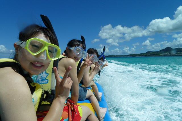 【세소코비치】【스노클링+바나나보트】투명한 바다를 바나나보트로 이동하여 즐기는 스노클링 투어