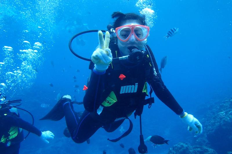 푸른동굴 펀다이빙